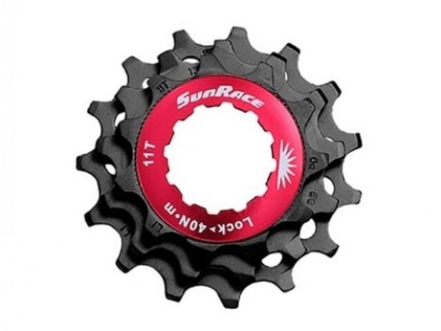 SunRace SPCS MTB Unité de pignon 10 vitesses, anneau de verrouillage inclus, black